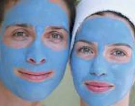 Маски з блакитної глини для обличчя фото